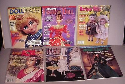Antique Doll 6 Magazines Reference books vintage to modern Dolls Barbie