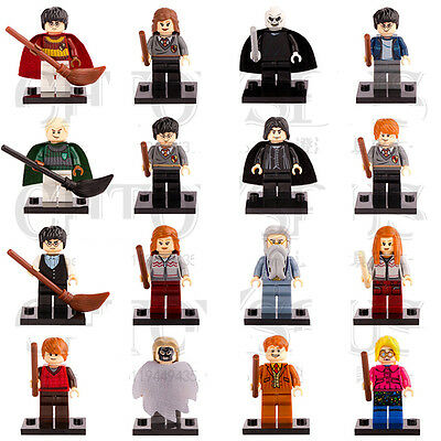 16pcs Harry Potter Ron Weasley Hermione Dumbledore Snape Ginny Minifigures Toys