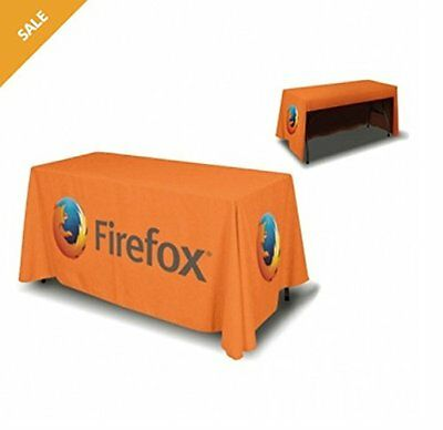 Personalised 6ft Table Cover 3 sided (open back), incl. full color custom print