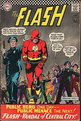 """The Flash # 164-1966-""""flash--Vandal Of Central City!""""-The Pied Piper-Kid Flash"""