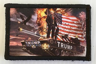 Donald Trump Morale Patch Tactical ARMY Hook Military USA Badge Flag