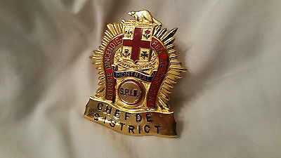 Canada QC Montreal Incendie Fire Pompier Firefighter Badge Insigne Shield Chef