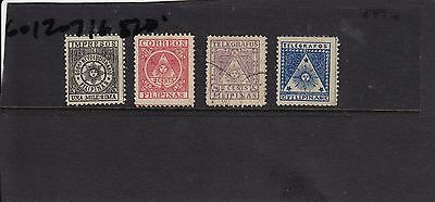 Philippines - revolutionary 1898-99 Aguinaldo Govt stamps - hard to find