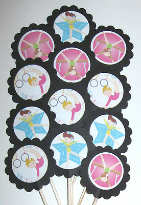 Gymnastics  Cupcake Toppers/Party Picks  Item #877