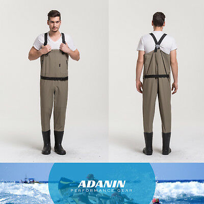 Big sales!Breathable Waders for fishing & hunting fresh water with rubber boots