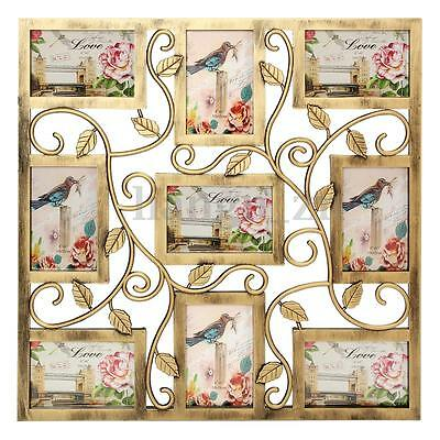 AU Family Wall Hanging Collage Photo Frame Picture Display Wedding Decor Gift