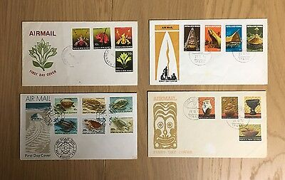 First Day Cover Papua New Guinea Set of 4