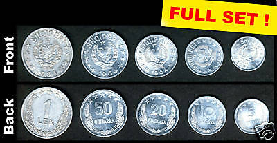 1964, Albanian Coins, 1st edition made in China, Full Set! UNC*