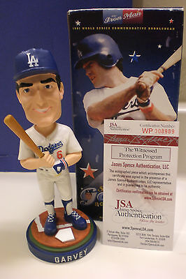 DODGERS Steve Garvey Signed Bobblehead W/'81 WS-Champs 2006 SGA Exclusive JSA