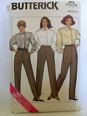 Butterick Sewing Pattern #3473 Size 18-20-22 Misses Proportion Pants