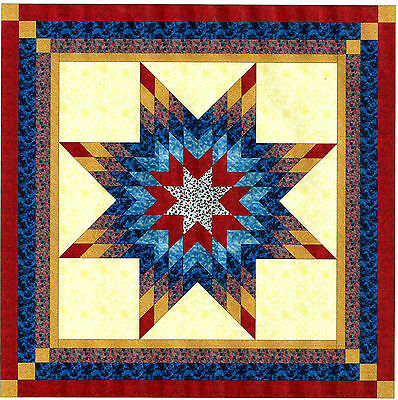 Quilt Kit/Patriotic Lonestar/Pre-cut Fabric/RED/WHITE/BLUE/EXPED SHIP