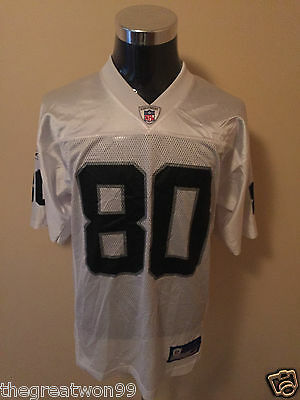 NFL Oakland Raiders #80 MED 7009A Printed Gridiron Jersey by Reebok