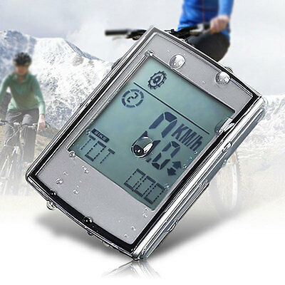 2-in-1 Wireless LCD Bicycle Cycling Computer + Cadence Heart Rate Monitor 2017