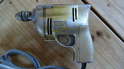 Excellent and working Vintage Wolf Cub 1/4 Inch Electric Drill. British tools.
