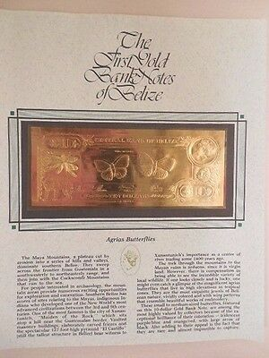 22K $10 Gold Note of Belize with Presentation card