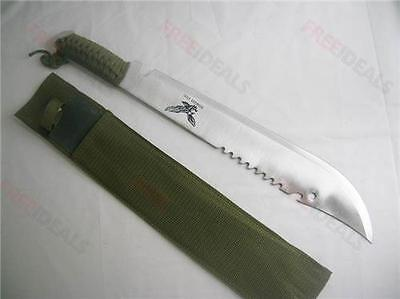 Full Tang Survival Hunting Knife Machete Eagle Jd