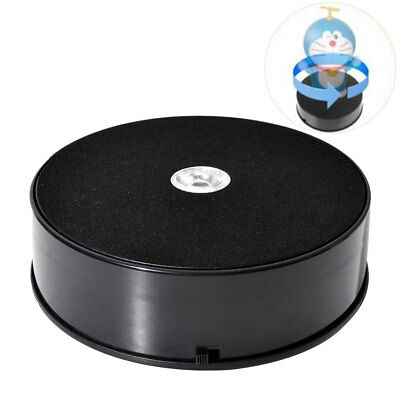 14cm Black 1KG LED Photo 360° Display Stand Rotating Turntable (Battery Powered)