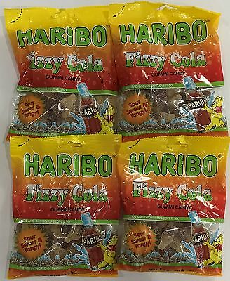 908721 4 x 142g BAGS OF HARIBO FIZZY COLA GUMMI CANDY - FAMILY FAVOURITE! - USA