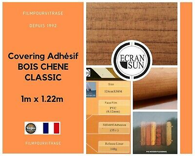 covering adhesif BOIS CHENE CLASSIC - thermoformable - (largeur de 1.22 m)