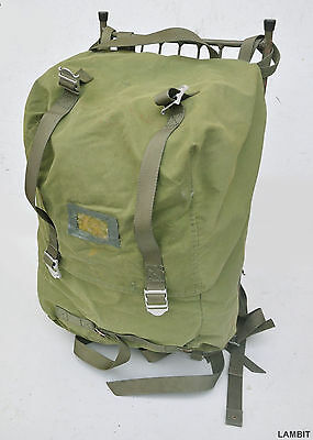 Original military external frame M75 40l backpack from Swedish army USED