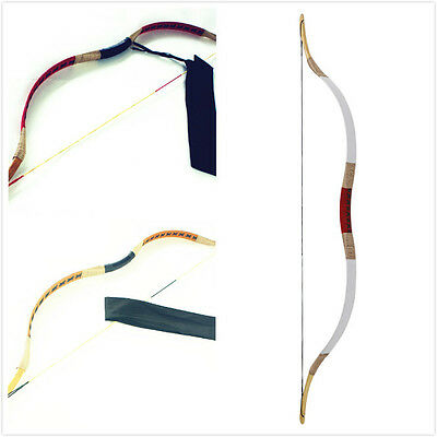 Handmade Traditional Archery Kid Bow Pigskin Kids Bow Longbow Recurve 10-25lb