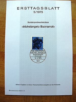 Germany FDC to commemorate the life of Michelangelo