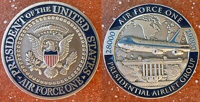 US Air Force One Präsident USA Weißes Haus Airlift Group Boing Challenge Coin