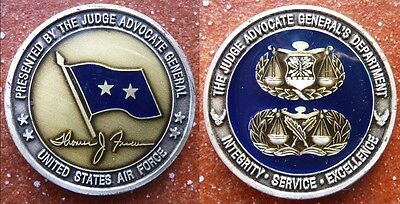 US Air Force 2* General Thomas J. Fiscus USAF US Luftwaffe Challenge Coin