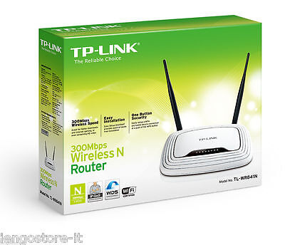 TP-LINK Router Wireless N WiFi 300Mbps Access Point Lan Switch 4 TLWR841N SHOP