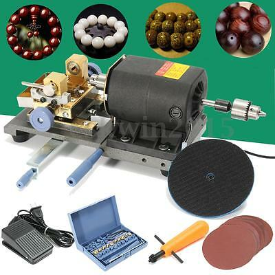 220V 350W Pearl Drilling Holing Machine Driller Jewelry Jade Beads Full Tool Set