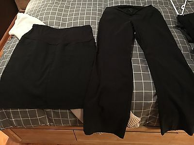Maternity Black Pants And Skirt Size 12