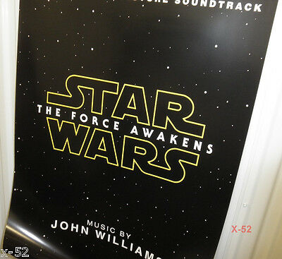 STAR WARS the FORCE AWAKENS soundtrack cd record promo POSTER john WILLIAMS