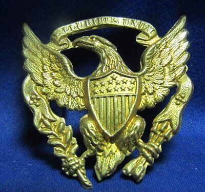 Indian Wars Army Officer Hat Badge SEW ON STYLE