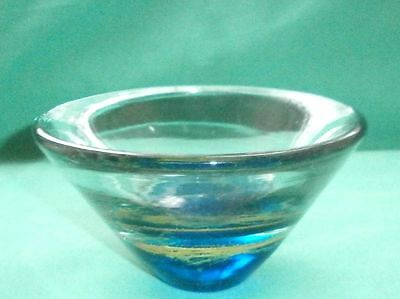 Art glass, bowl with paperweight base/blown glass /Italian