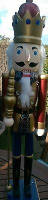 Christmas Nutcracker Wooden Soldier King Maroon Deluxe Extra Large 68 Cms Bnwt