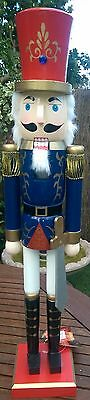 Christmas Nutcracker Wooden Soldier Navy And Red Deluxe Extra Large 62 Cms Bnwt