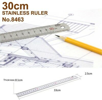 15,20,30,50CM STAINLESS STEEL METAL RULER  PRECISION DOUBLE SIDED Leather craft