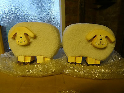 Pair of large Sheep Ornaments. Lovely Nursery Item/Nativity?