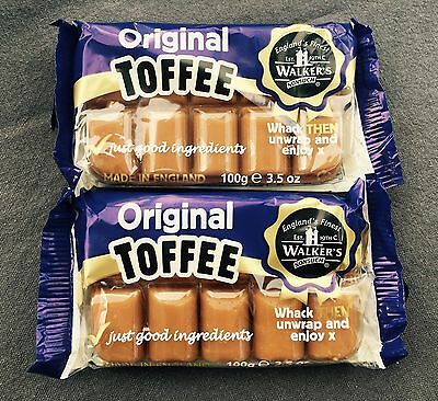 2 x WALKERS TRAY TOFFEE ORIGINAL FLAVOUR, CLASSIC BRITISH SWEETS, UK IMPORT