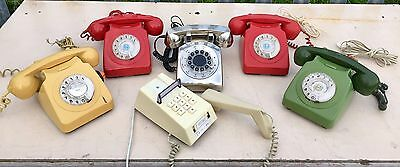 Job Lot Of Old Vintage Ex Gpo/bt Dial Telephones