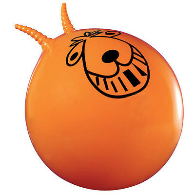 Retro Space Hopper orange, classic two handle bouncy ball, includes pump