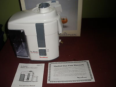 Moulinex  Mh 753 Juicer Working Condition In Box W Manual