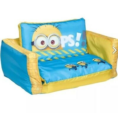 Kids Mini Sofa Furniture Despicable Me Minion Character Flip Out Chair NEW
