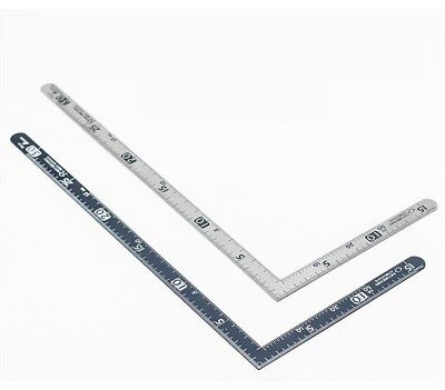 Japan Shinwa STEEL TRY SQUARE RIGHT ANGLE STRAIGHT EDGE L RULER 30CM*15CM TOOL