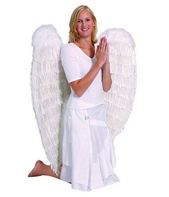 Adults White Feather Angel Fairy Wings Extra Large XL 120cm Fancy Dress Costume