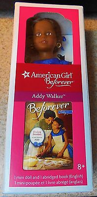 Addy Walker American Girl  Mini Doll with Her Mini Book BNIB Sealed