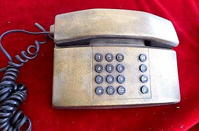 Vintage Corded Phone plated bronze