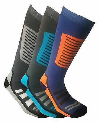 i-Smalls Mens Pack of 3 High Performance Long Hose Thermal Snowboarding Ski Sock
