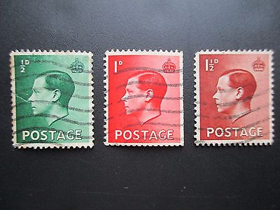 KING EDWARD VIII 1936 Great Britain used and franked GB POSTAGE STAMPS