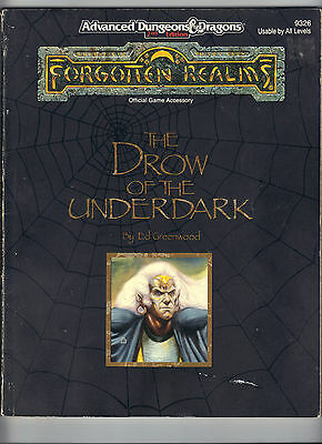 The DROW of the Underdark FORGOTTEN REALMS AD&D FOR2 SB Price Inc Delivery in UK